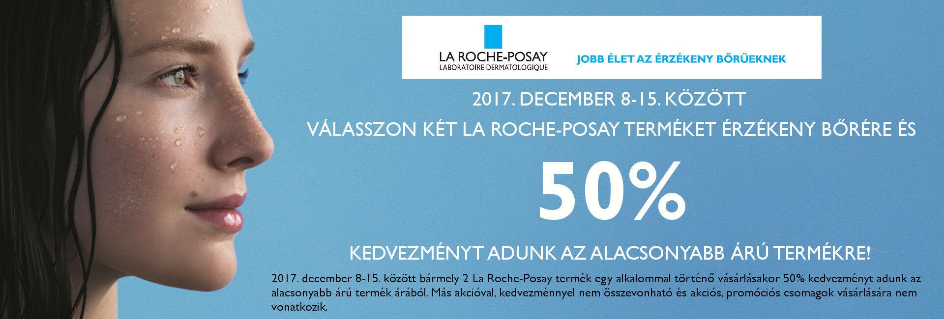 A 2. La Roche-Posay terméket 50% kedvezménnyel adjuk 2017. december 8-15. között!