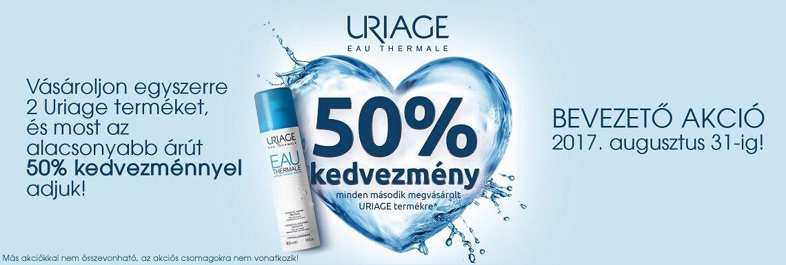 2017. augusztus 14-21. között a 2. Uriage terméket 50% kedvezménnyel kínáljuk!