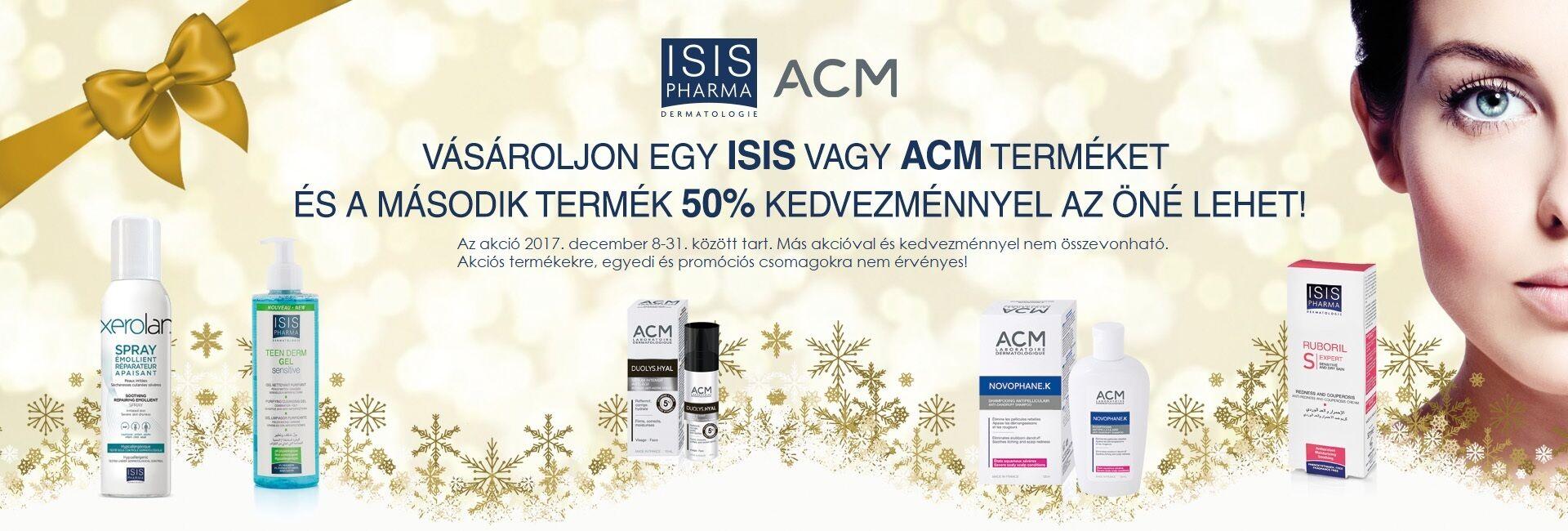 A 2. ACM vagy ISIS Pharma terméket 50% kedvezménnyel kínáljuk!