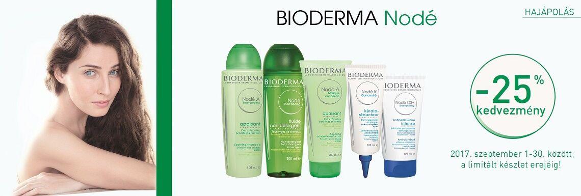 Minden Bioderma Nodé terméket 25% kedvezménnyel kínálunk!