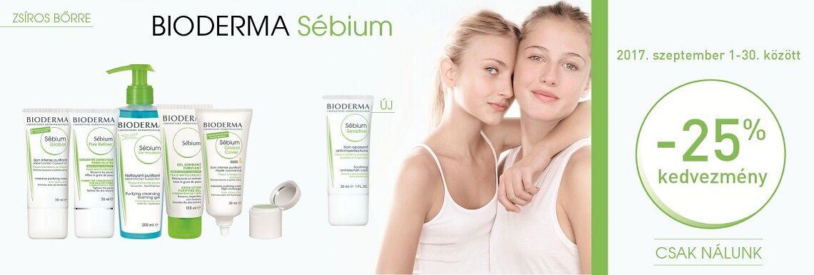 Minden Bioderma Sébium terméket 25% kedvezménnyel kínálunk!