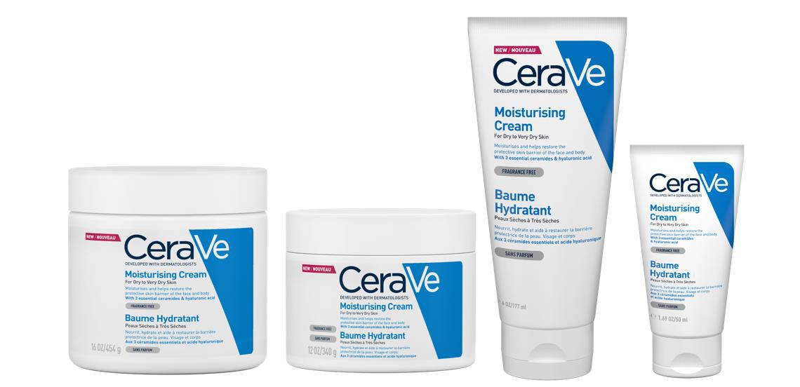 CeraVe hidratáló krém 4-féle kiszerelésben kapható