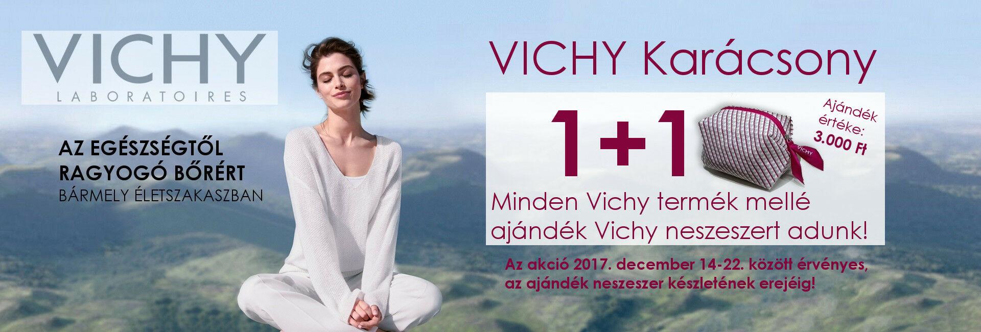 2017. december 14-22. között minden Vichy termék mellé ajándékba adunk 1db exkluzív Vichy nesszeszert 3.000 Ft értékben!