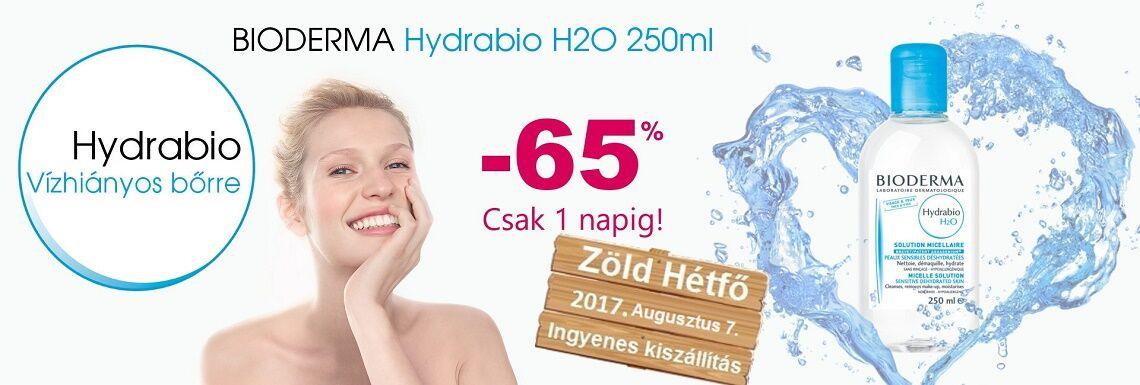 2017. augusztus 7-én a Bioderma Hydrabio H2O 65%-os kedvezménnyel kapható!