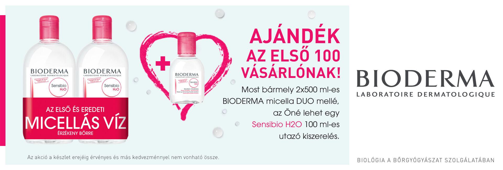 Bioderma Sensibio Micellafesztivál - a 2. termék akár 70% kedvezménnyel az Öné lehet!