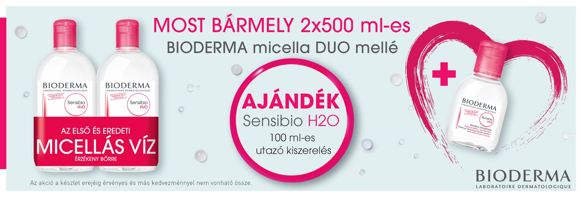 Bioderma Micellafesztivál: Bioderma H2O micellás vizek - a 2. terméket most akár 80% kedvezménnyel kínáljuk!