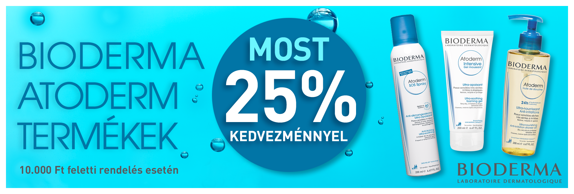 Most minden Bioderma Atoderm termékre 25% kedvezményt adunk!