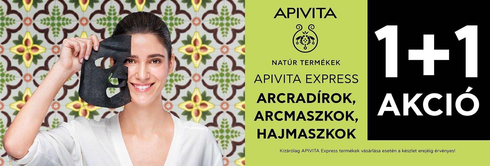 2021. január 21. és március 31. közöt minden Apivita Express Beauty termék mellé választható Apivita arcmaszkor/arcredírt/hajmaszkot adunk ajándékba!!