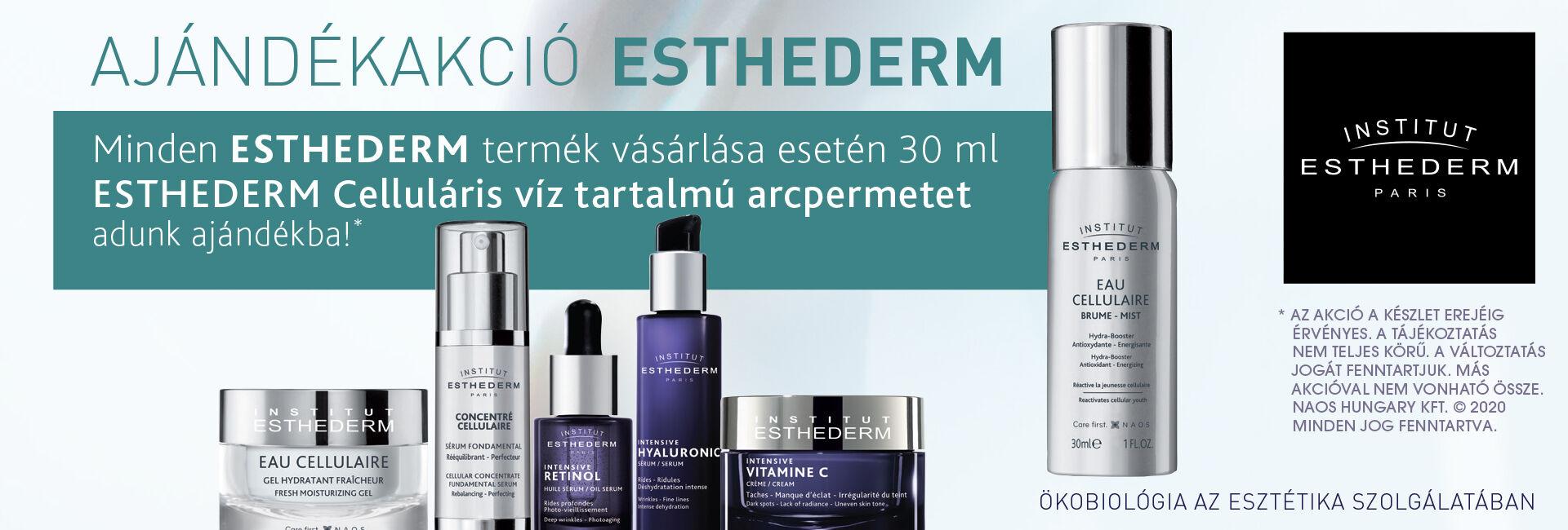 1+1 Exkuzív Ajánlat: 2020. december 10-31. között minden megrendelt Institut Esthederm termék mellé 30ml-es Institut Esthederm Celluláris víz tartalmú antioxidánsokat tartalmazó arcpermetet adunk ajándékba 3.500 Ft értékben!