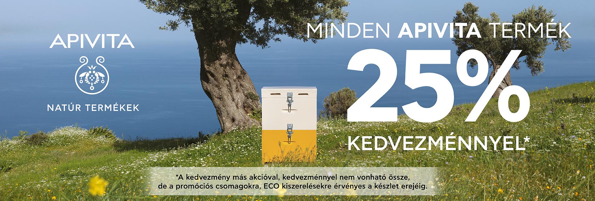 2020. október 8-12. között 25% kedvezményt adunk minden Apivita natúr termékre!