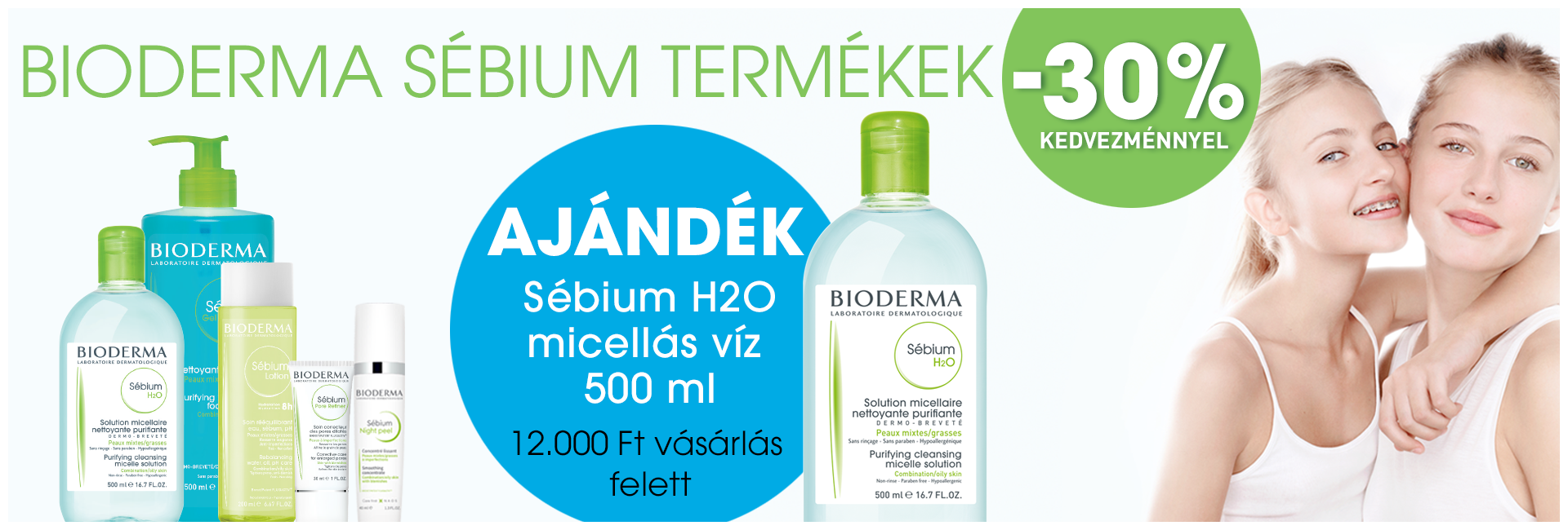 2020. szeptember 30-ig minden Bioderma Sébium terméket 30% kedvezménnyel kínálunk!