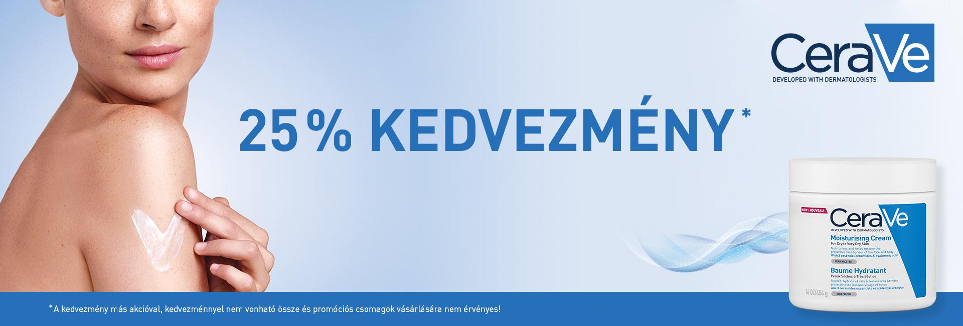 2020. október 1-7. között 25% kedvezményt adunk minden CeraVe termékre!