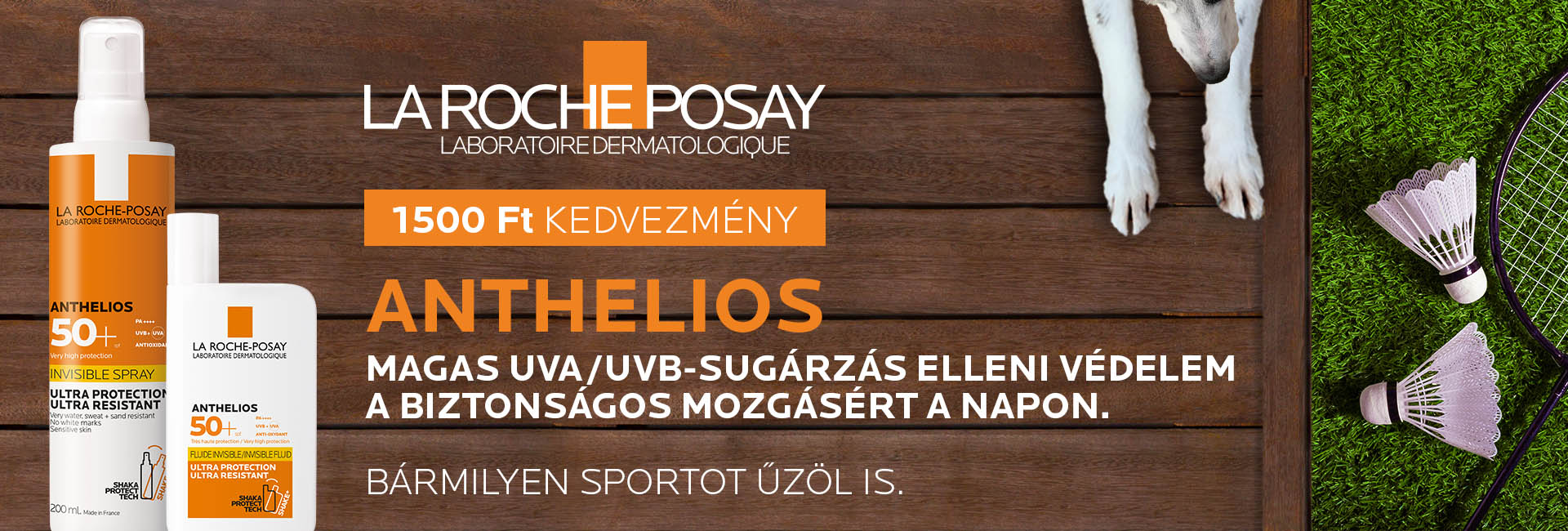 1500 Ft kedvezményt adunk minden La Rocvhe-Posay Anthelios napozóra és Posthelios napoás utáni termékre!