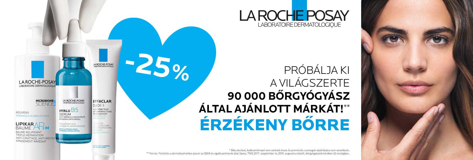 2020. november 2-9. között minden La Roche-Posay terméket 25% kedvezménnyel kínálunk!