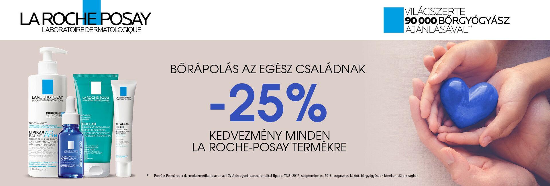 2020. június 20-29. között 25% kedvezményt adunk minden La Roche-Posay termék árából!