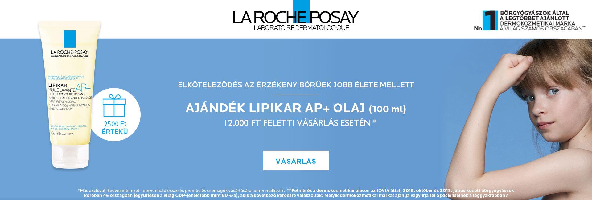 2021. január 18-31. között minden 12.000 Ft feletti La Roche-Posay megrendelés mellé ajándékba adunk 1db La Roche-Posay Lipikar tusfürdő olaj AP+ 100ml-t! Az ajándék értéke: 2.500 Ft!