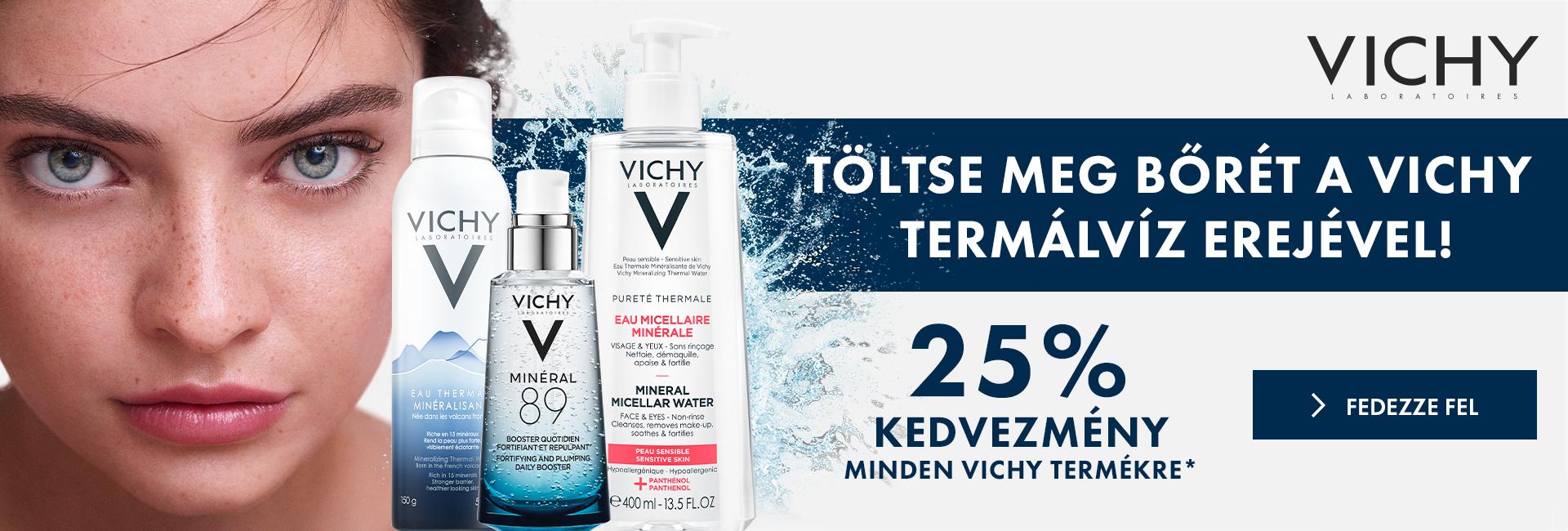 2020. május 28. és június 1. között minden Vichy terméket 25% kedvezménnyel kínálunk!