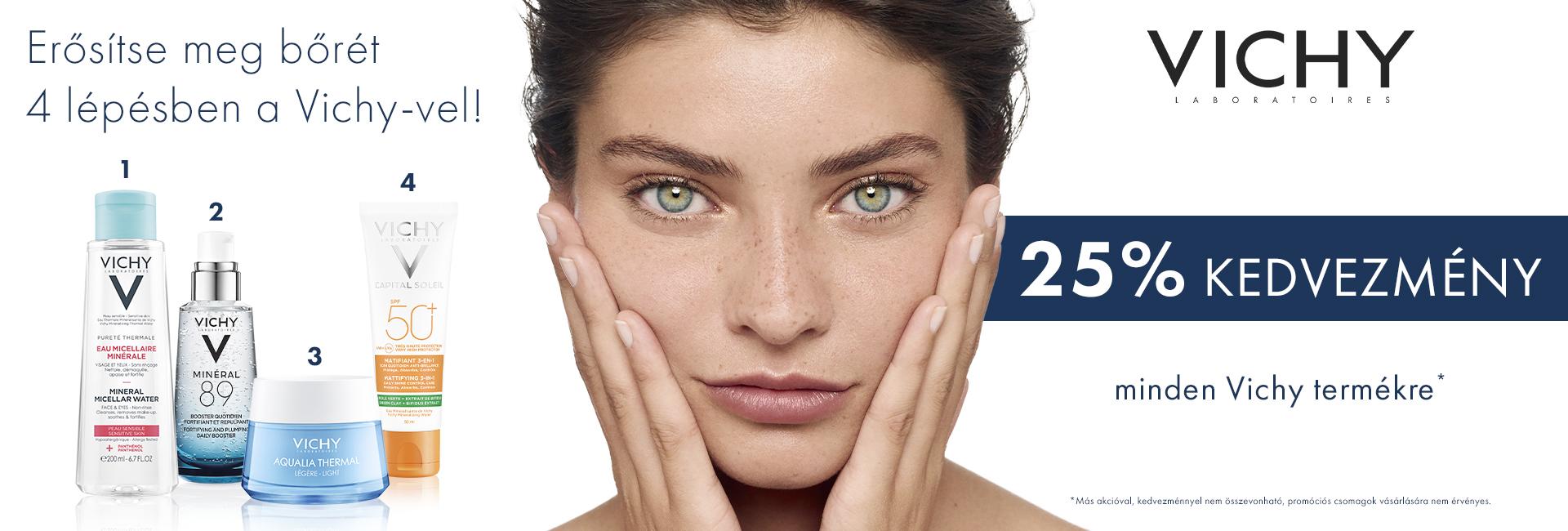 2020. június 22-29. között 25% kedvezményt adunk minden Vichy termék árából!