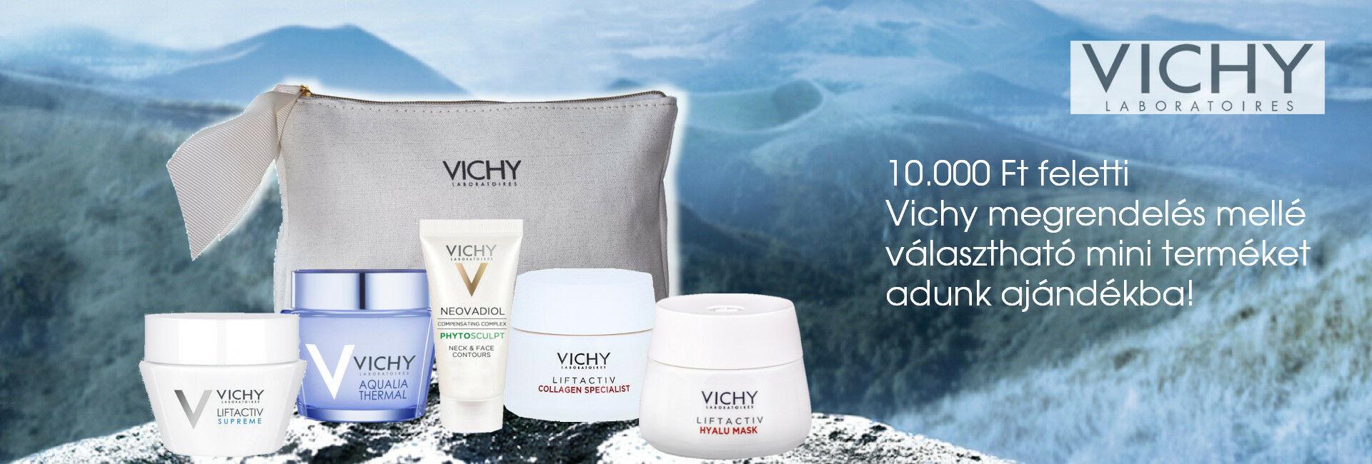 2020. szeptember 16-20. között minden 10.000 Ft feletti Vichy megrendelés mellé választható Vichy mini arcápolót adunk ajándékba!