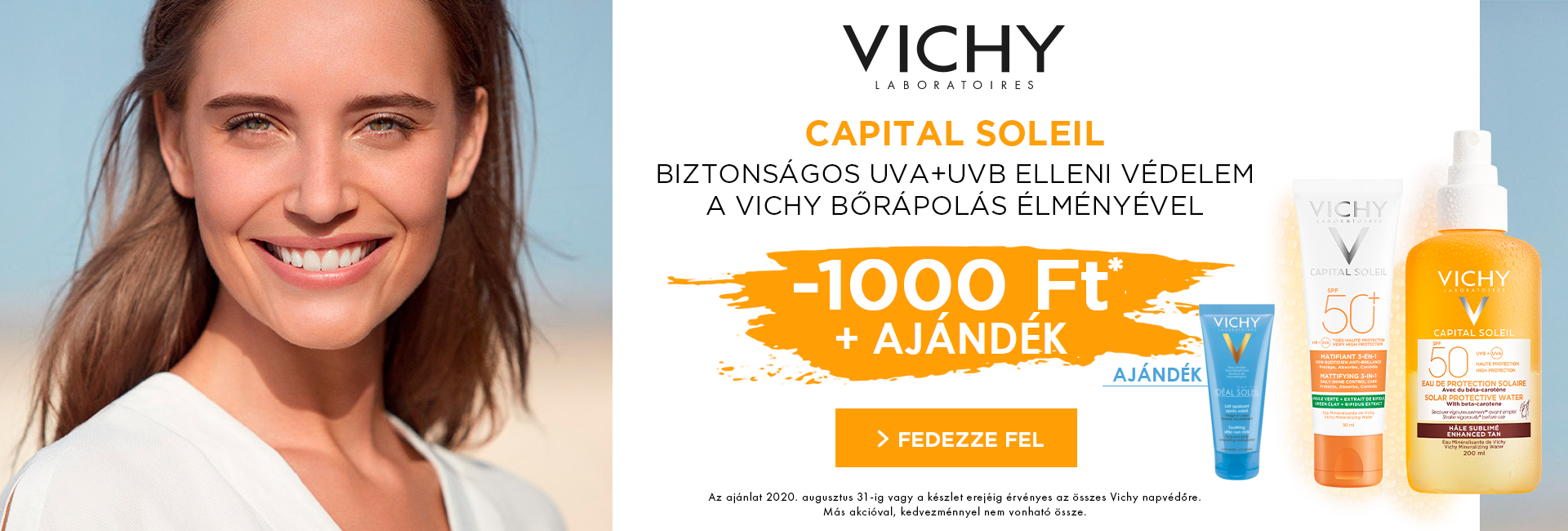 Most minden Vichy Ideal Soleil és Capital Soleil napozó árából 1.000 Ft kedvezményt adunk!