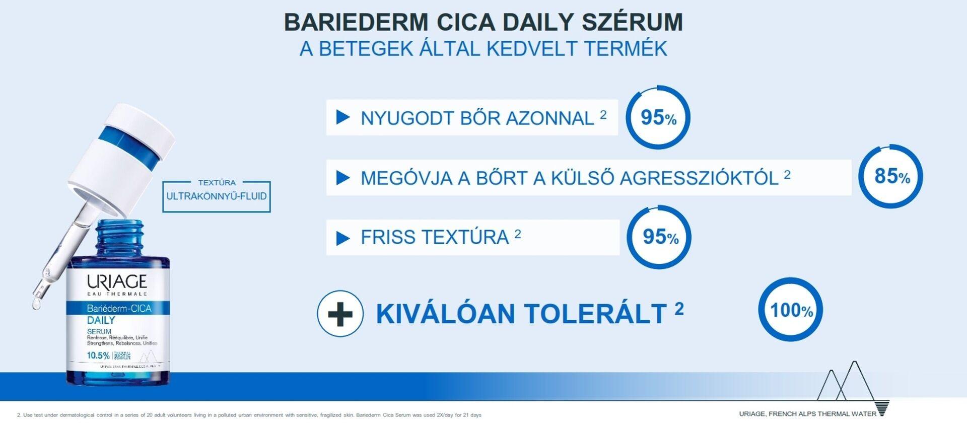 Uriage BARIÉDERM CICA Daily arcápoló szérum 30ml