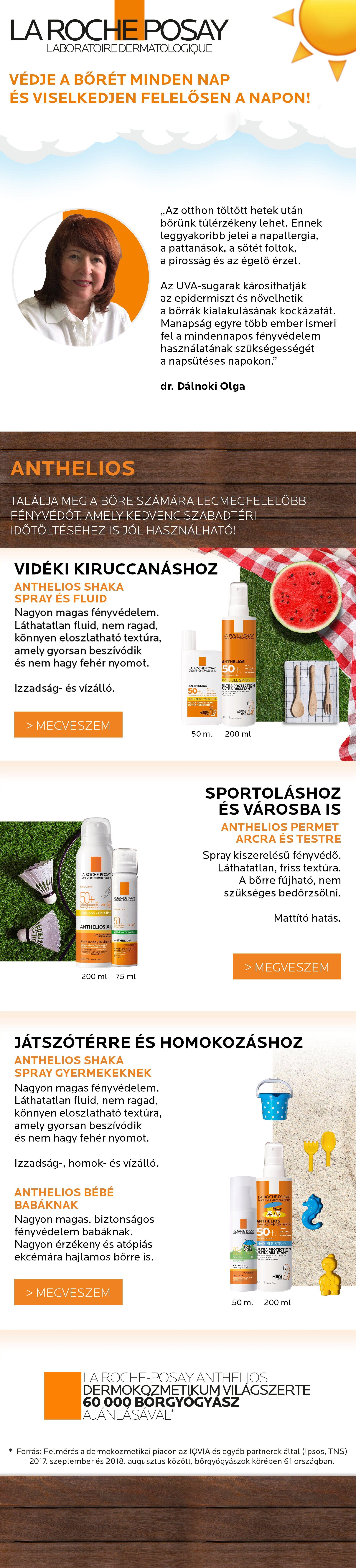 La Roche-Posay Anthelios: Védje a bőrét minden nap és viselkedjen felelősen a napon!