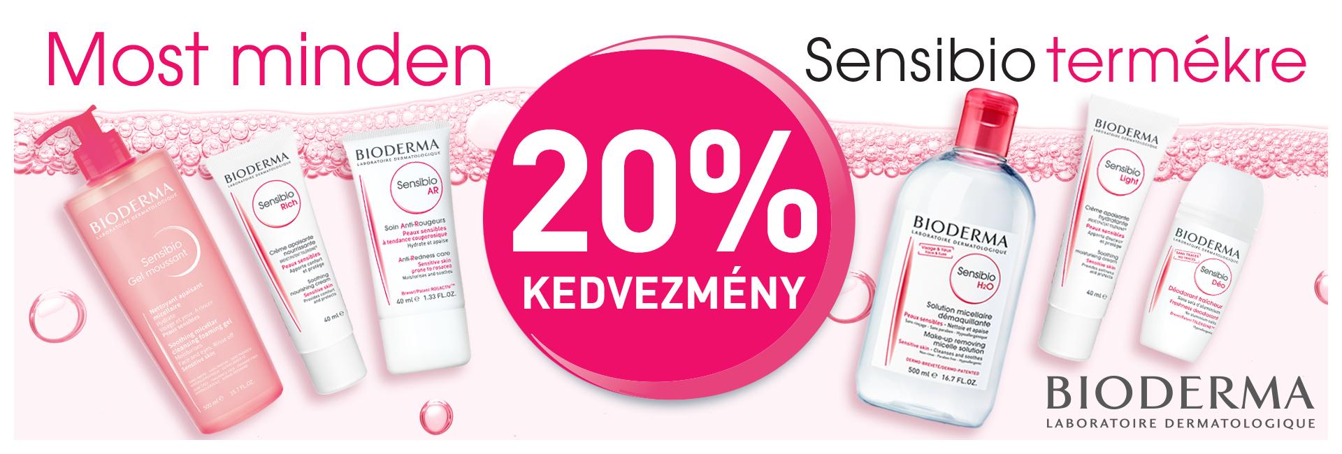 Most minden Bioderma terméket 20% kedvezménnyel kínálunk!