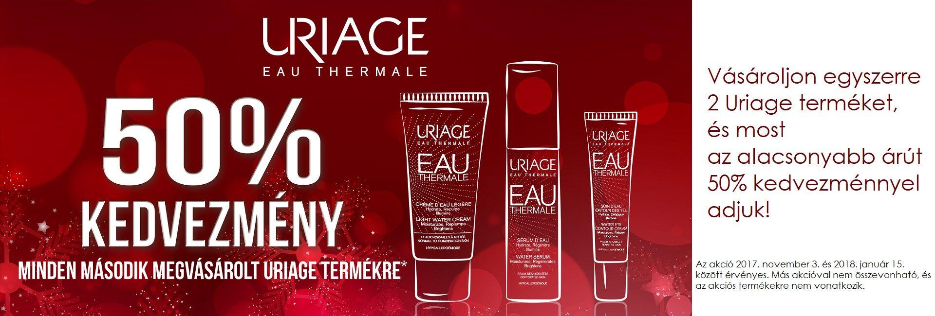 A 2. Uriage terméket 50% kedvezménnyel adjuk!