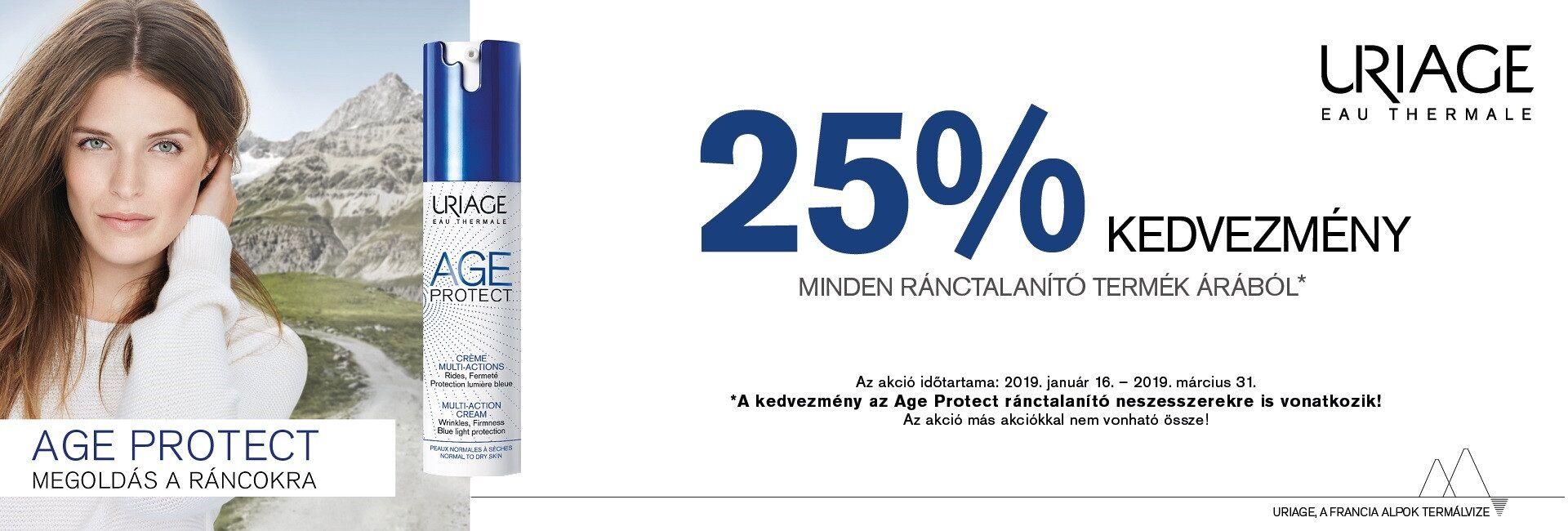 2019. március 31-ig minden Uriage Age Protect termékre 25% kedvezményt adunk!