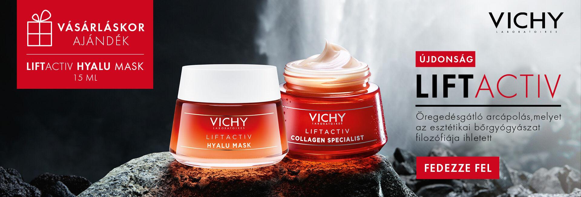 Vichy Liftactiv Hyalu maszk 15ml ajándékot adunk!