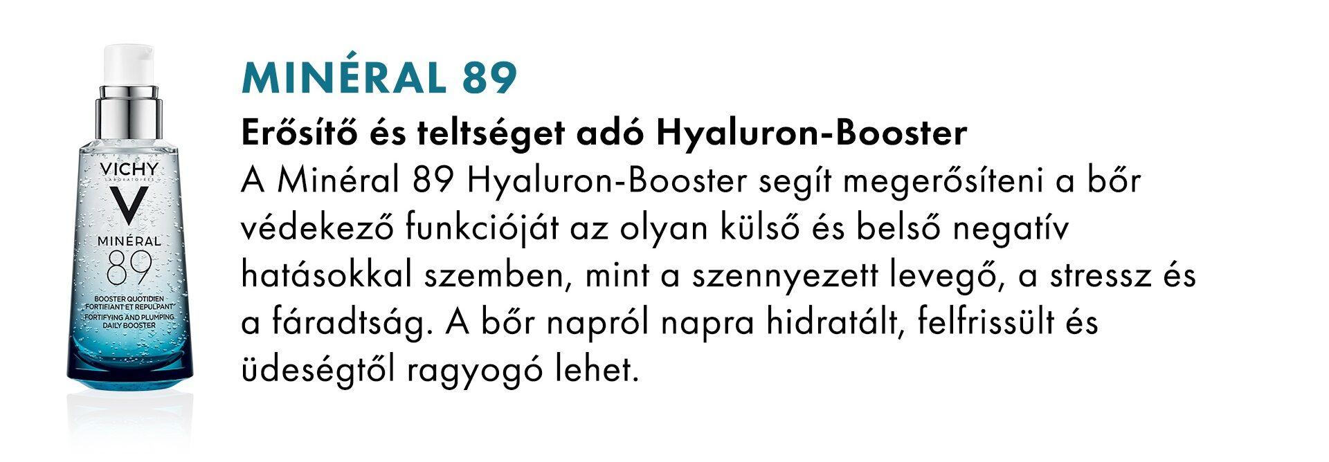 Vichy Minéral 89 Hyaluron Booster arcápoló