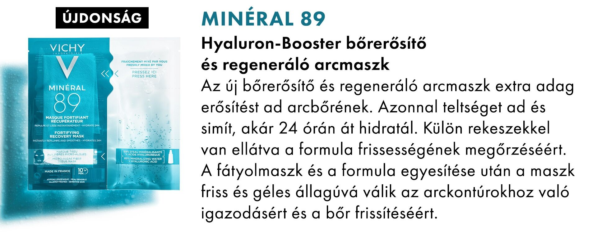 Vichy Minéral 89 Hyaluron Booster arcmaszk
