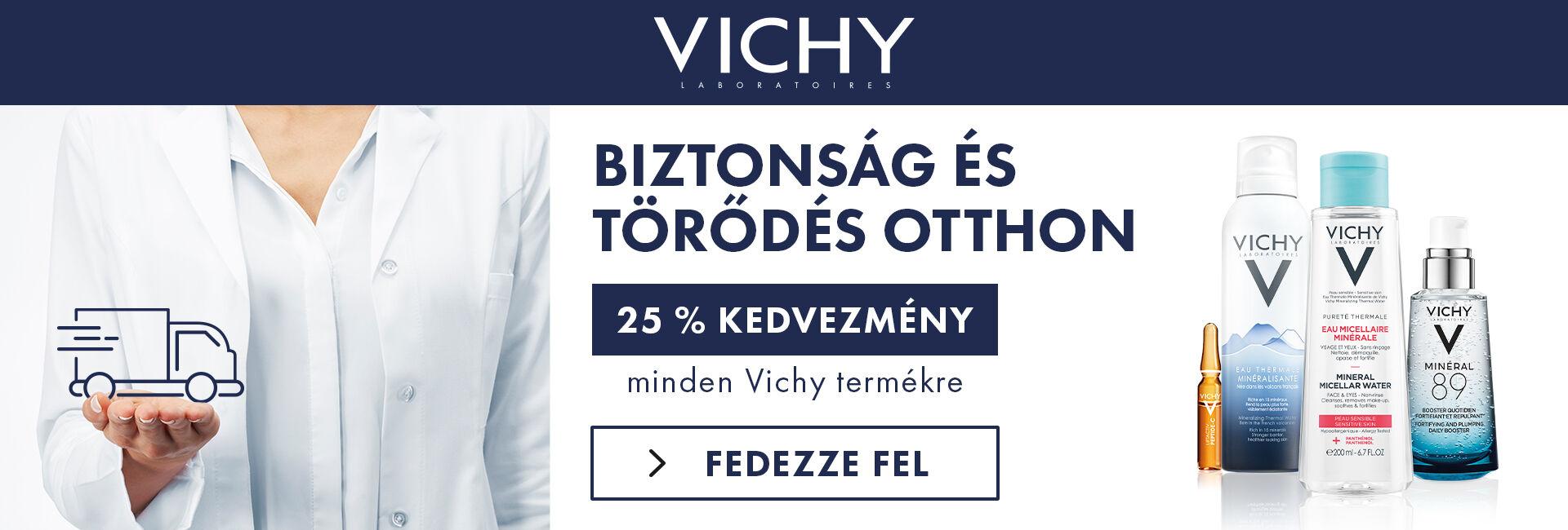 2020. március 23-30. között minden Vichy terméket 25% kedvezménnyel kínálunk!