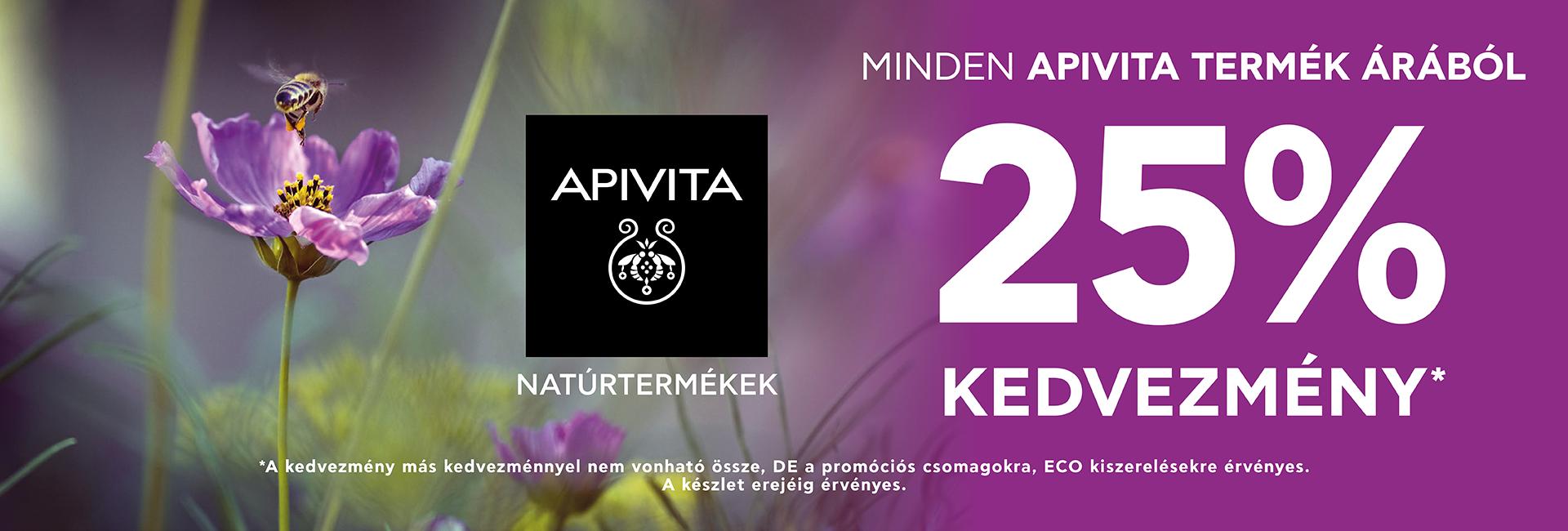 2020. június 19-29. között 25% kedvezményt adunk minden Apivita termék árából!