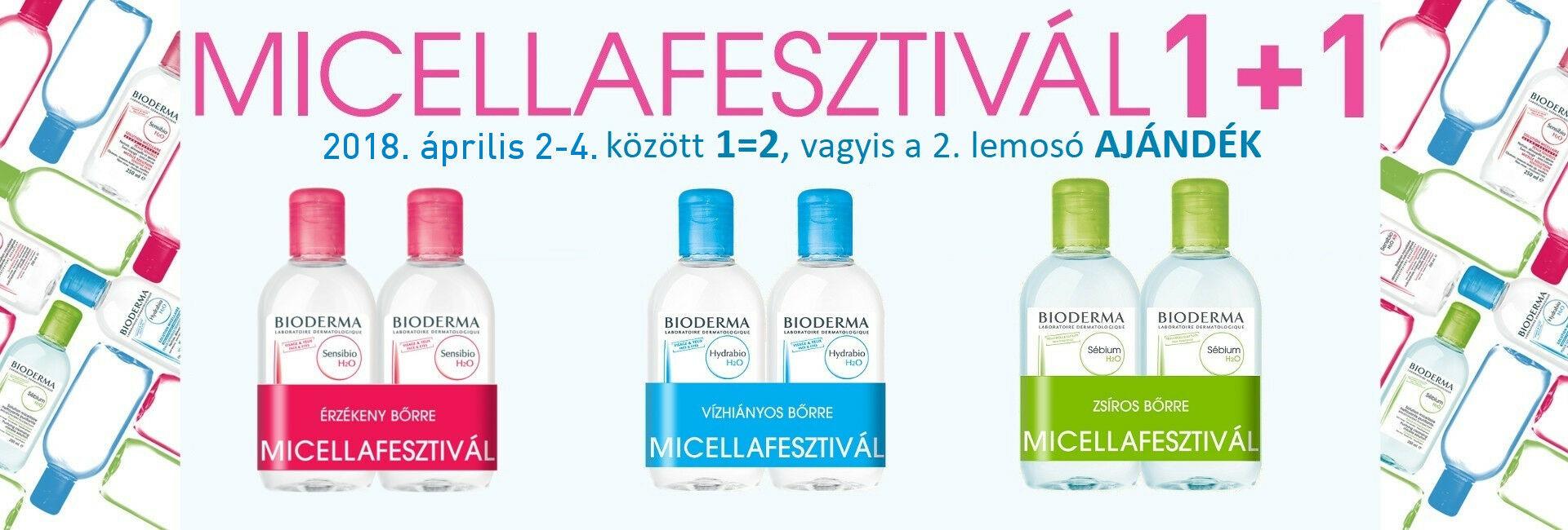 2018. április 2-4. között a Bioderma micellás arclemosó duo pack-ok különleges akciója: 1-t fizet 2-t kap!