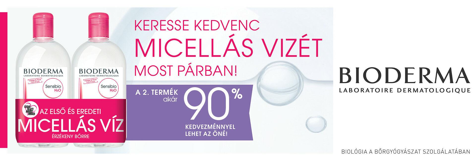Bioderma Sensibio Micellafesztivál - a 2. termék akár 90% kedvezménnyel az Öné lehet!