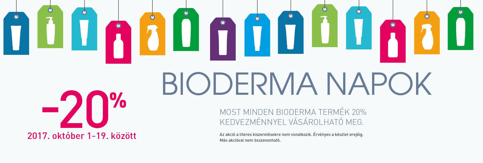 Minden Bioderma terméket 20-50% kedvezménnyel kínálunk!