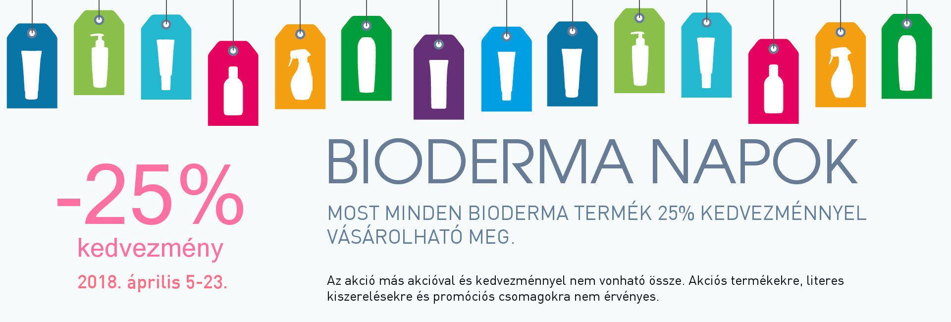 Bioderma Napok: minden Bioderma terméket 25% kedvezménnyel kínálunk 2018. április 5-23. között!