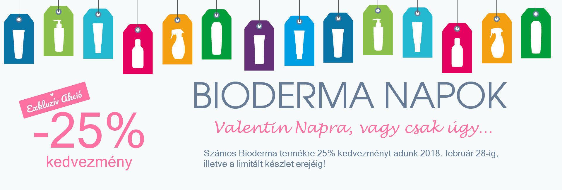 Valentin Napi exkluzív akció: 2018. február 28-ig számos Bioderma terméket 25% kedvezménnyel kínálunk!