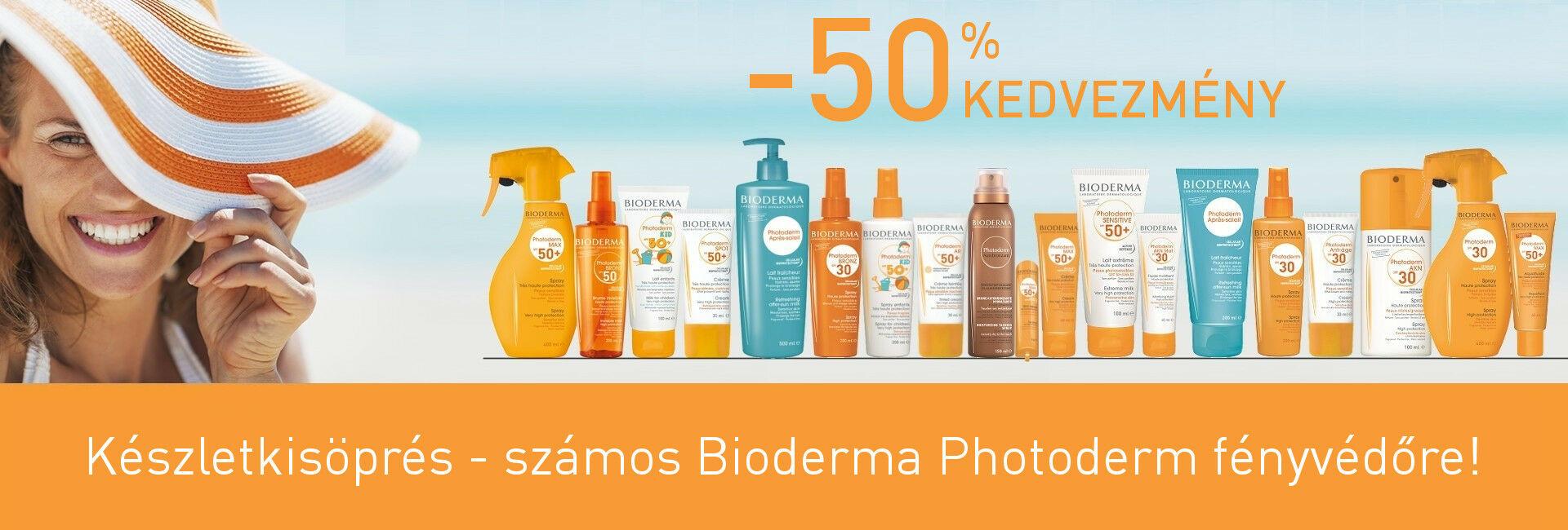 Számos Bioderma Photoderm fényvédőt 50% kedvezménnyel kínálunk!