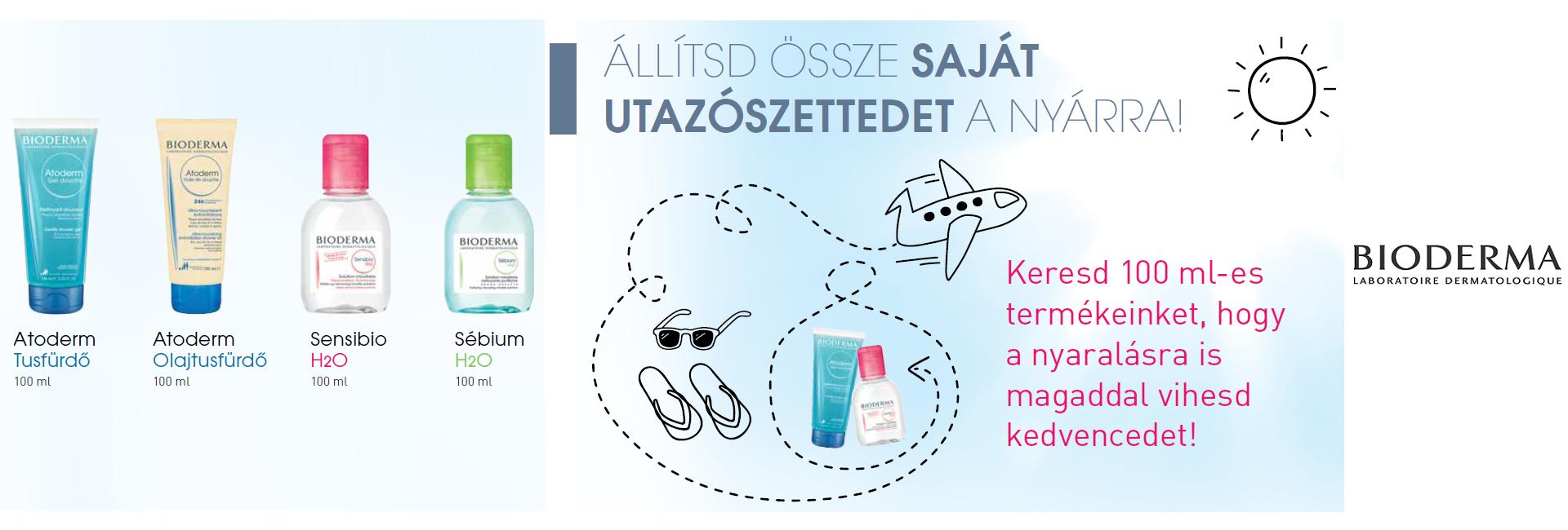Állítsa össze saját utazószettjét! 50-54% kedvezményt adunk a Bioderma Travel Size termékekre!