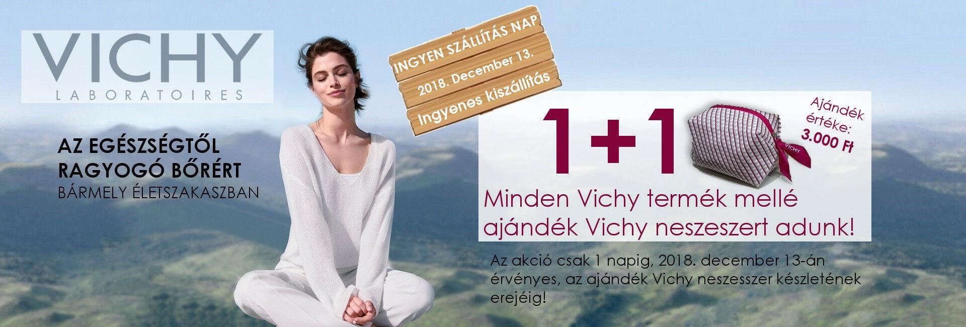2018.december 13-án minden Vichy termék mellé ajándékba adunk 1db exkluzív Vichy neszesszert!