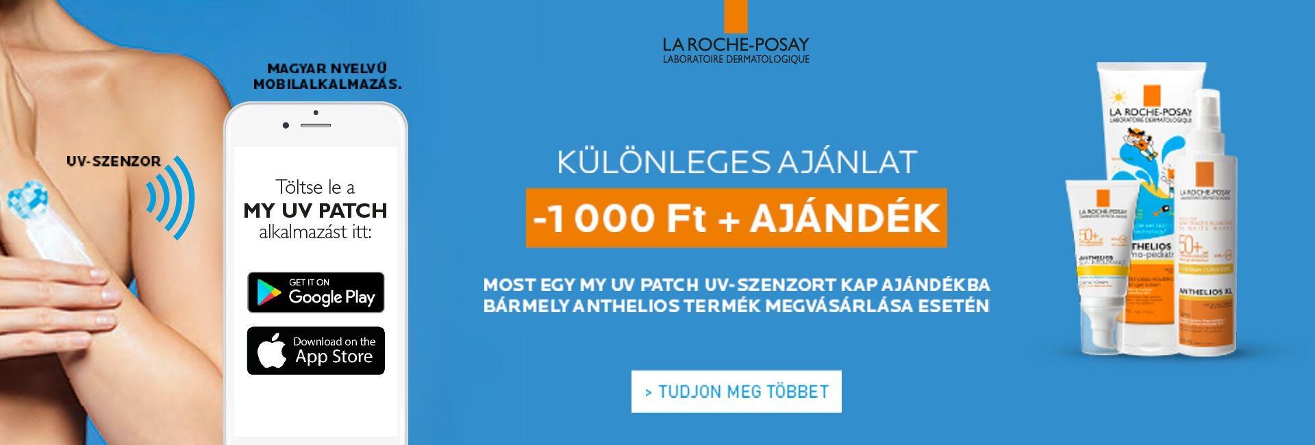 La Roche-Posay Anthelios és Posthelios termékekre 1.000 Ft kedvezményt adunk!