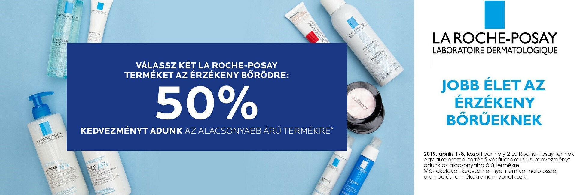 2019. április 1-3. között a 2. La Roche-Posay termékre 50% kedvezményt adunk!
