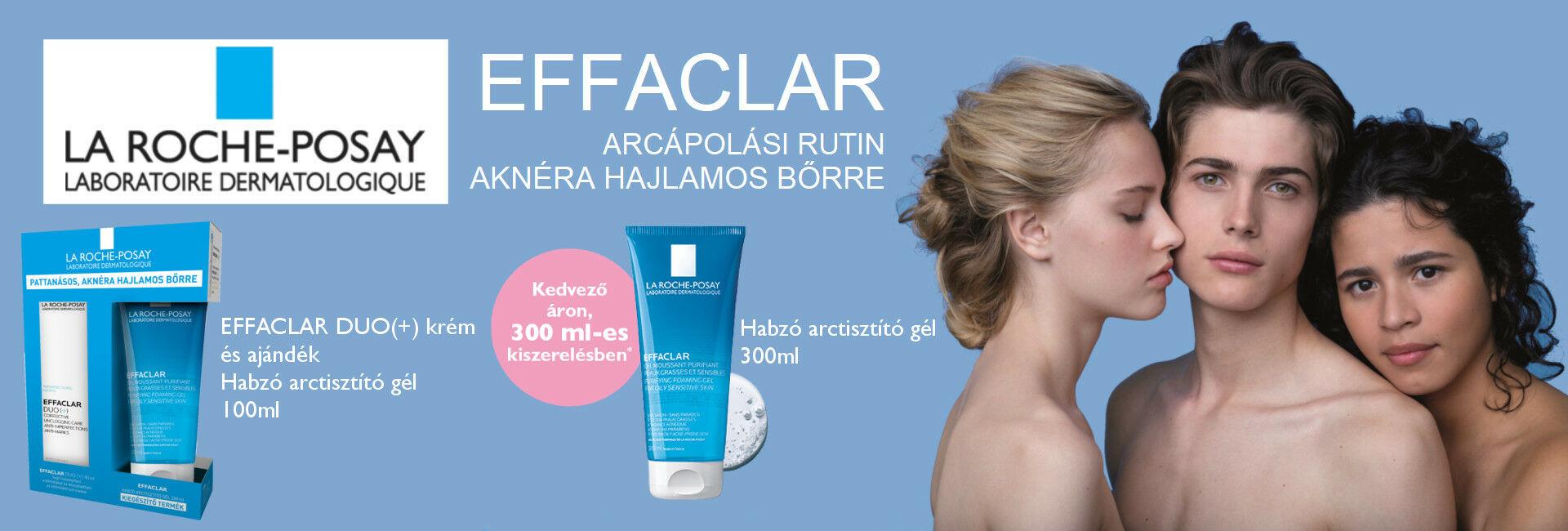 Egyedi La Roche-Posay Effaclar ajánlat aknéra hajlamos bőrre akár 47%-os kedvezménnyel!