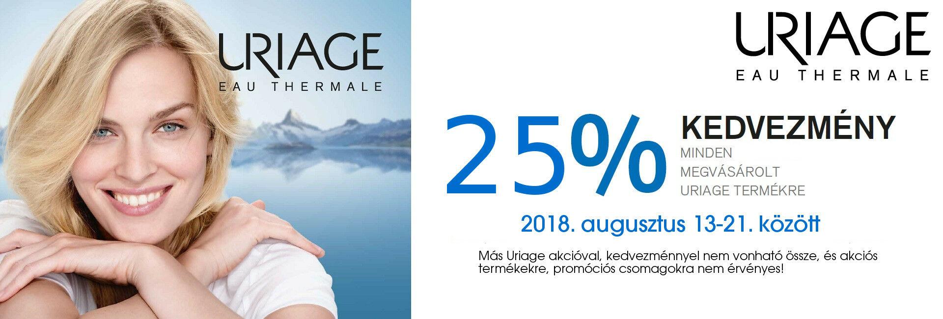 Szülinapi Uriage Napok: 2018. augusztus 13-21. között minden Uriage termék 25%-os kedvezménnyel kapható!