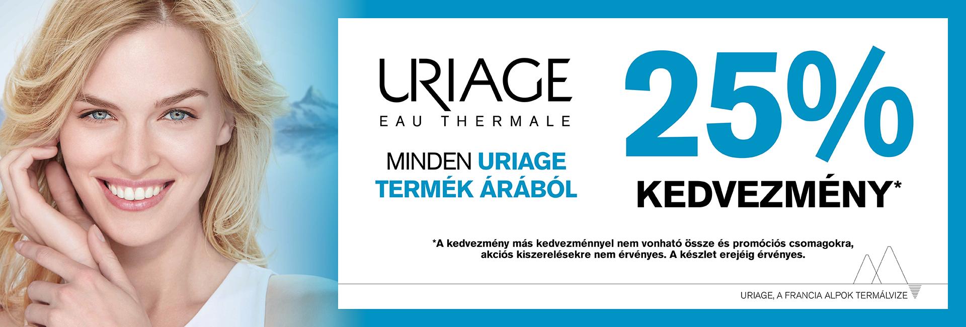 2020. június 19-29. között 25% kedvezményt adunk minden Uriage termék árából!
