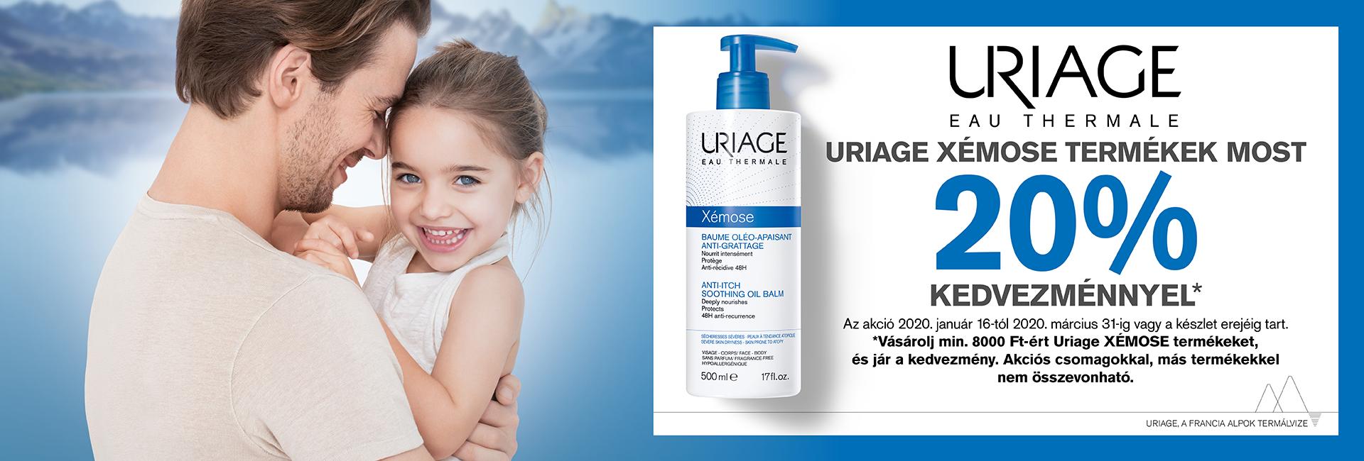 2020. március 31-ig minden Uriage Xémose termékre 20% kedvezményt adunk!