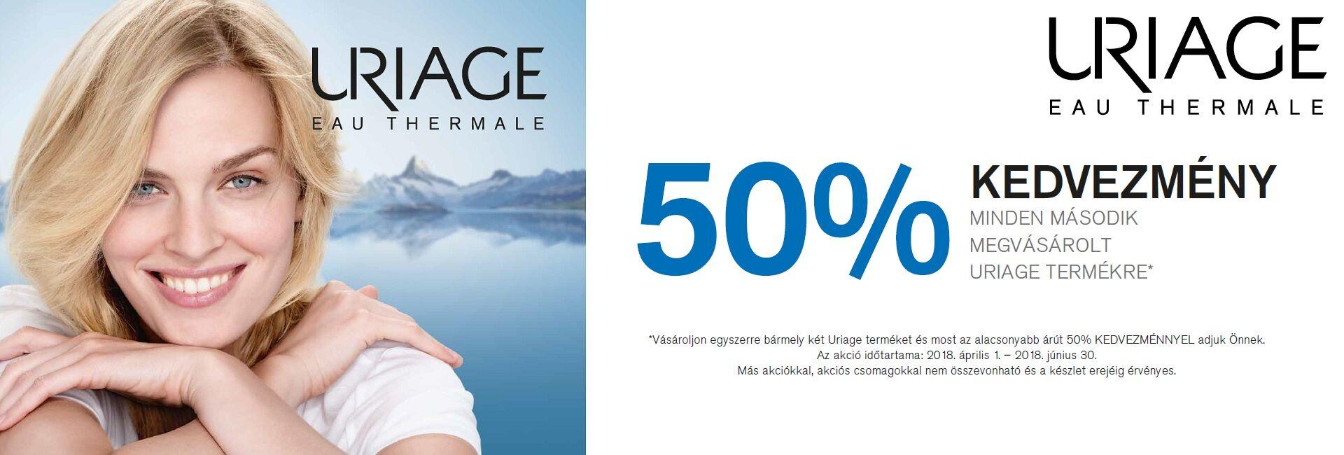 A 2. Uriage termék árából 50% kedvezményt adunk 2018. június 30-ig!