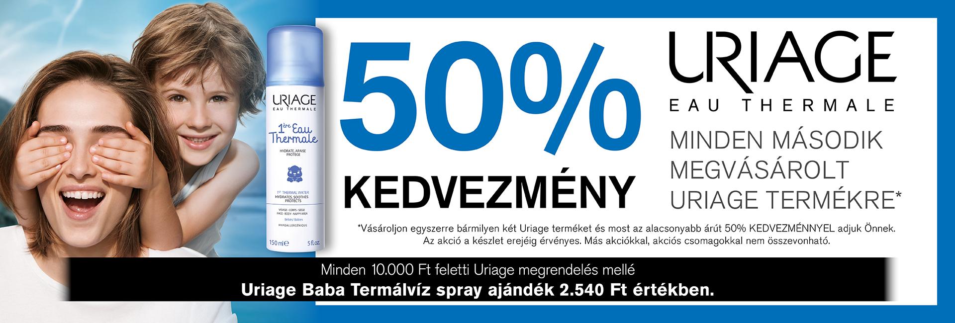 2020. január 15-ig 50% kedvezményt adunk a második Uriage termékre!